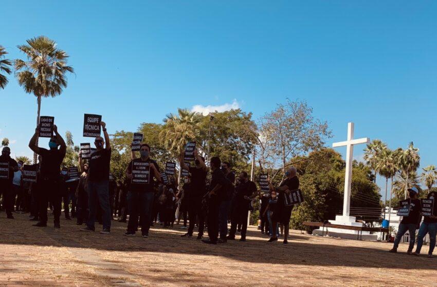 Profissionais protestam para que eventos sejam liberados
