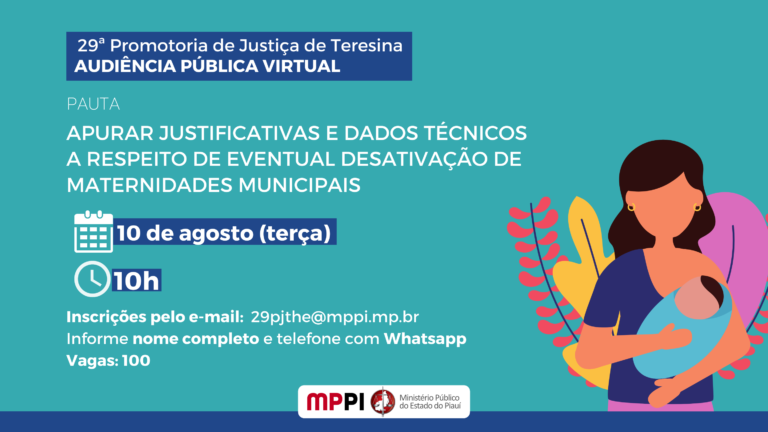 Ministério Público promove audiência pública sobre desativação de maternidades em Teresina