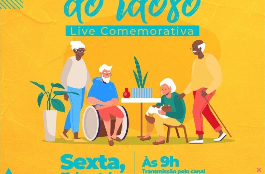 Prefeitura realiza live comemorativa ao Dia da Pessoa Idosa na sexta-feira (01)