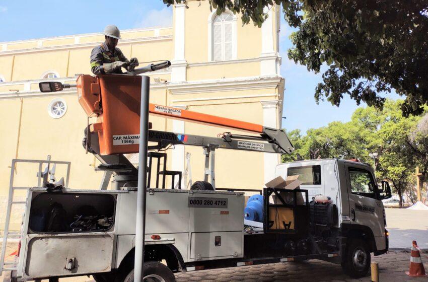 Prefeitura aumenta iluminação da Praça Saraiva com economia de 75%