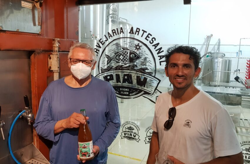 Gildásio Guedes visita fábrica de cerveja Piau e destaca empreendedorismo